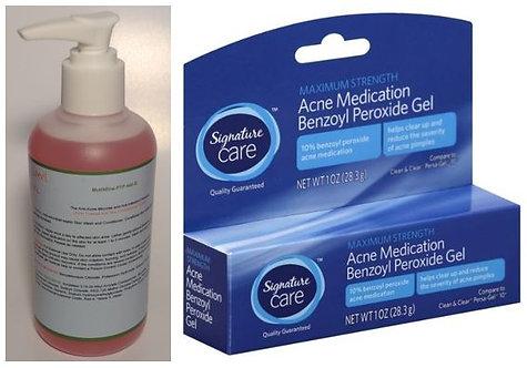 MutiNfine PTP 440Θ/ Signature Care 10% Benzoyl Peroxide Gel (2 Piece Set)