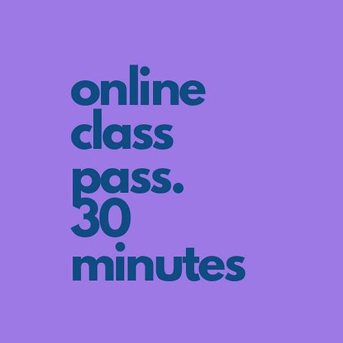 4 x 30min Online Class Passes