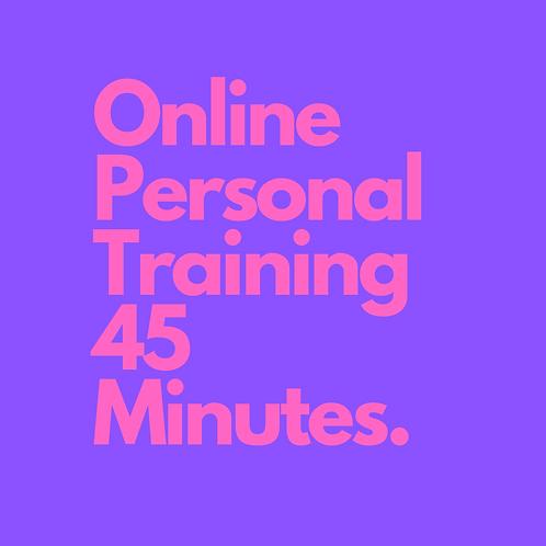 8 x Digital Personal Training 45 minutes