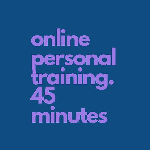 4 x Digital Personal Training 45 minutes