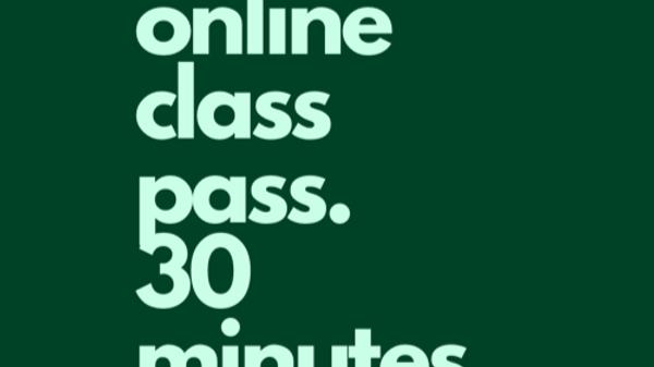 30min Online Class Pass