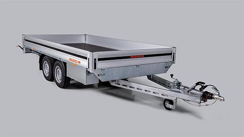 Släpvagn lavett 4x2,05 m lastyta hyra