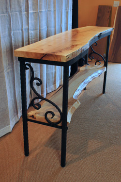 Sofa Table with Inlay-Side Angle View