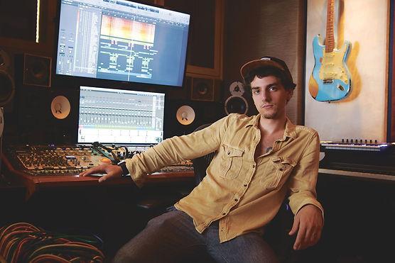 Matty Amendola in 825 Records studio