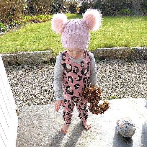Leopard Print Romper - Pink