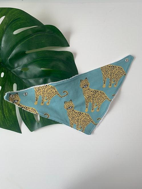 Aqua Leopards - Bib