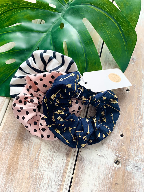 Large Hair Scrunchies - Pack of 3