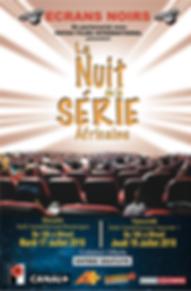 La nuit de la Série Africaine aux Ecrans Noirs Affiche