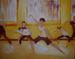 Dance class painting