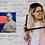 Thumbnail: JEAN BITE, collage sur toile, tableau humoristique