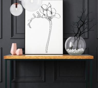Séries de dessins digitaux : les fleurs