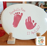 Ceramic Hand and foot prints Ossett Wakefield
