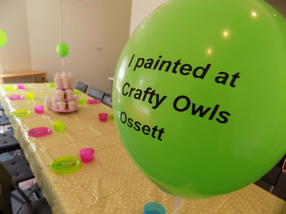 Party Balloon in the Art Studio in Ossett, near Leeds and Wakefield