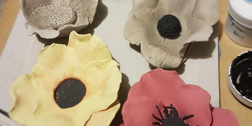 Clay Workshop: Ceramic Poppies
