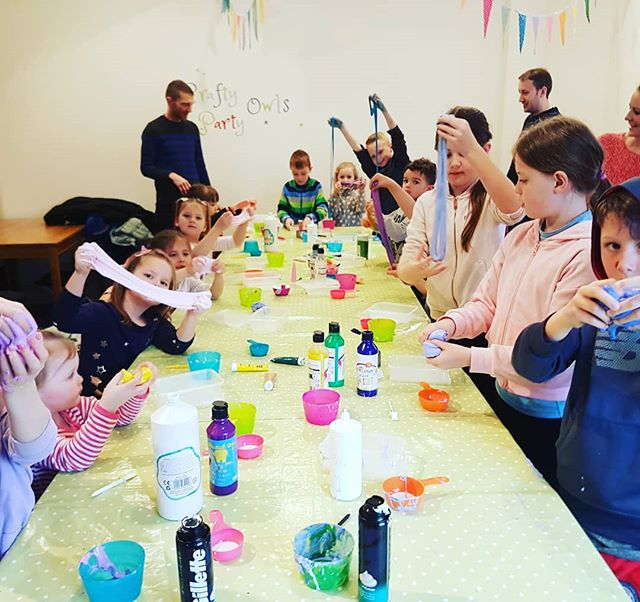 We love #Slime at #CraftyOwlsPottery _Ch