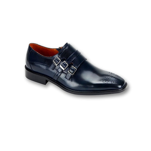 SL0012 Blue Genuine Leather Shoe