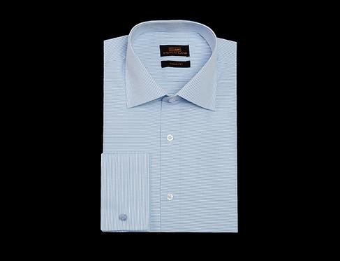TA1720 Dress Shirt   Wide SpreadCollar   French Square Cuff   Color Blue