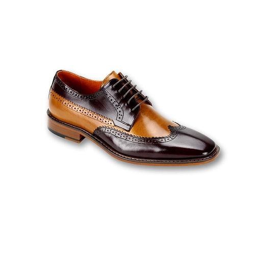 SL0007 Burgundy Genuine Leather Shoe