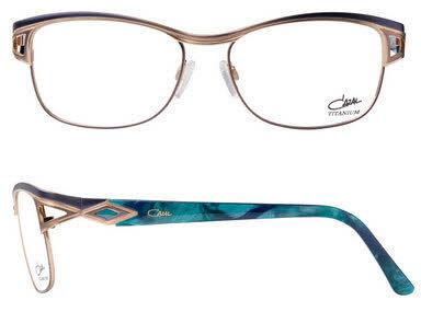 Cazal 1095 Gold and Turquoise Eyeglasses