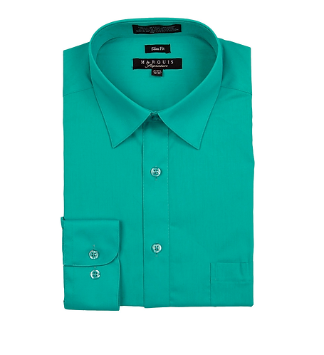 slim fit dress shirt Emerald