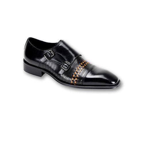 SL0015 | Black /Scotch Genuine Leather Shoe
