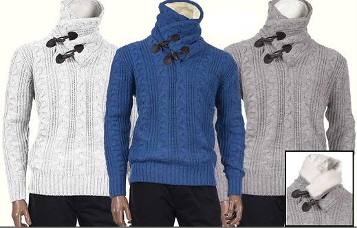 Inserch Shawl Collar Sweater