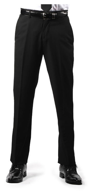 Premium Mens Black Slim Fit Dress Pants
