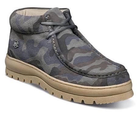 Gray Camo Casual Shoes