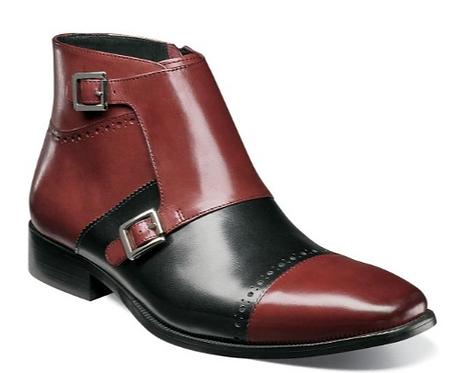 Burgundy Multi Boots