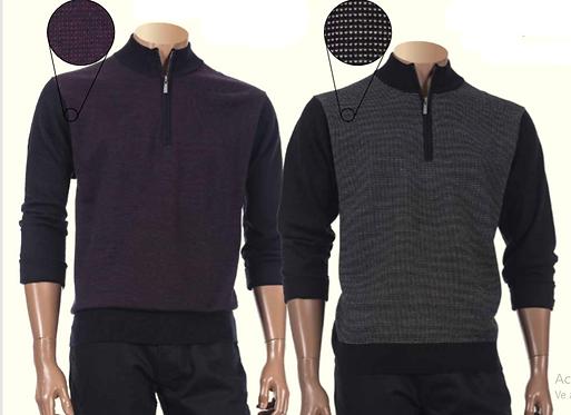 Inserch  Zip Mock Sweater