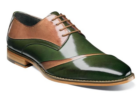 Dark Green and Tan Shoes