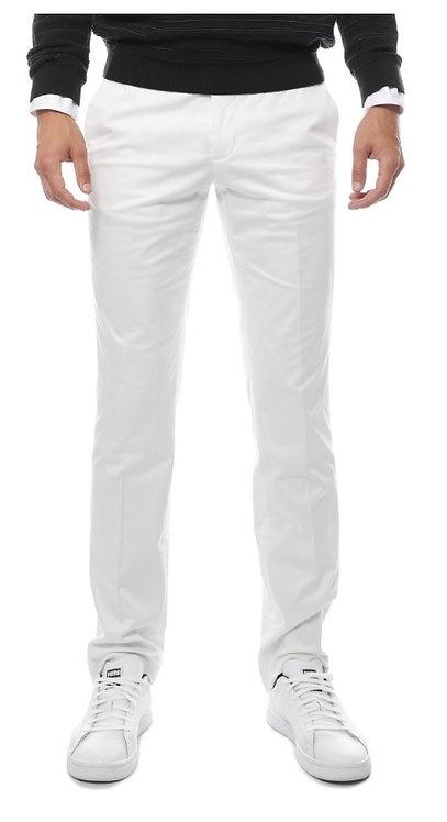 Zonettie Kilo Off White Straight Leg Chino Pants