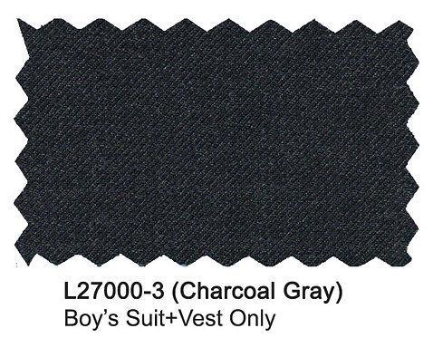 L27000-3-London Fog Boys Suit-Charcoal Gray