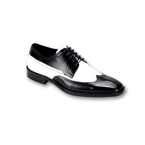 SL0007 Black/White Genuine Leather Shoe