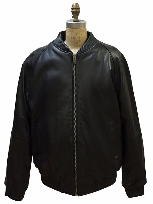 Black Jacket, Lamb Skin Jacket, Leather Jacket, Varsity Jacket