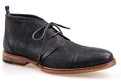 J.Shoes Torre Black Leather Chukka Boot