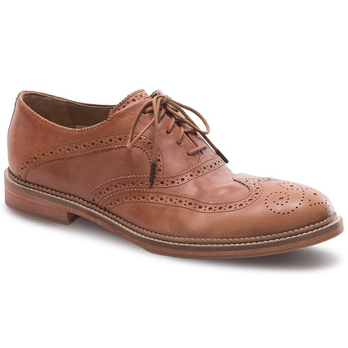 J.Shoes Men's Spencer Ambra Brown Leather Brogue Oxford