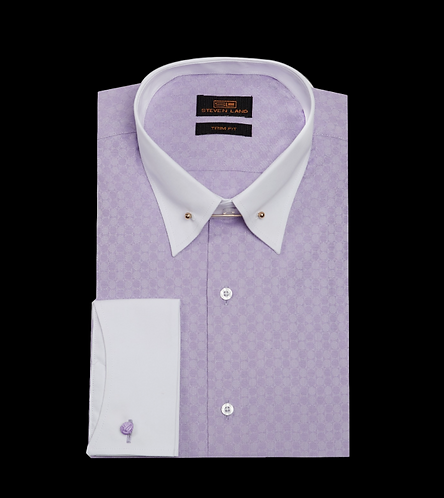 TW1711 | Dress Shirt | French Cuff | Collar Bar |