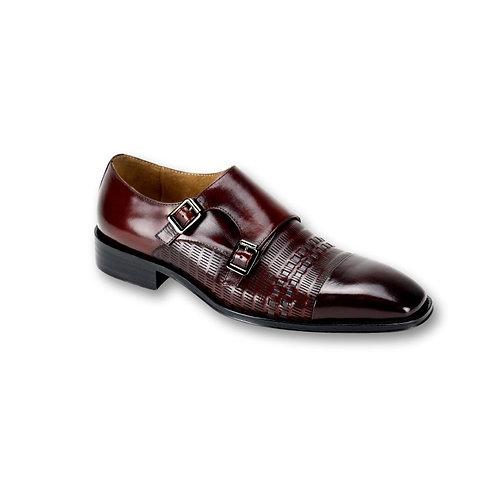 SL0015 | Burgundy / Grey Genuine Leather Shoe