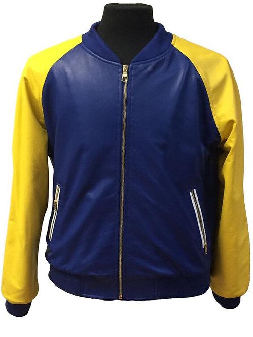 Royal Blue, Lamb Skin Jacket, Varsity Jacket