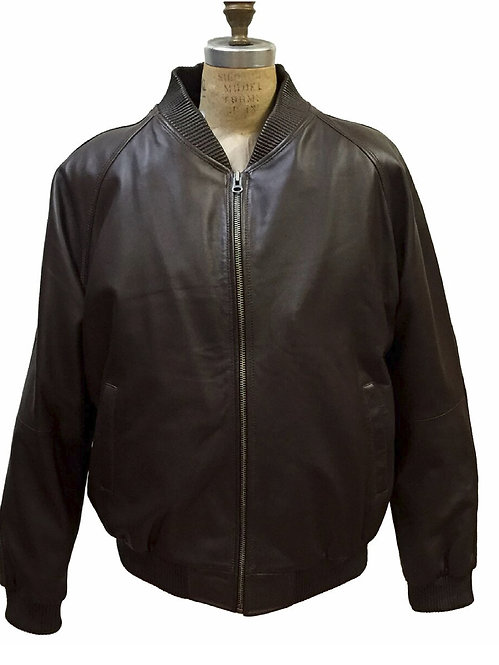 Dark Brown Jacket, Lamb Skin Jacket, Leather Jacket, Varsity Jacket