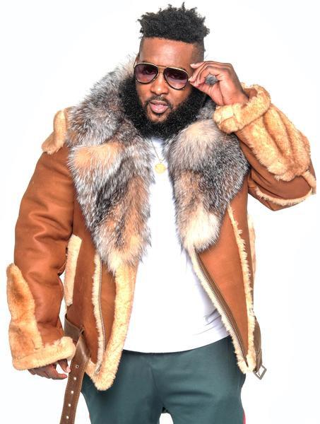 Sheepskin Jacket With Fur Collar Style #1320