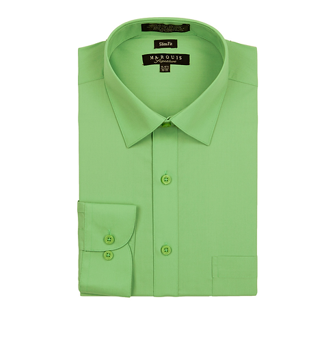 slim fit dress shirt Apple Green
