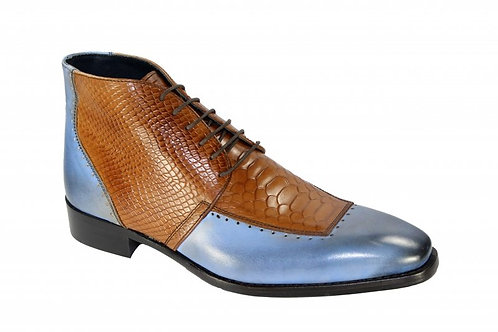 Light Blue/Cognac Shoes