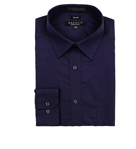 slim fit dress shirt navy