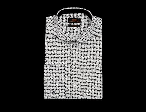 TA1712  Cutaway Collar | French Square Cuff | Color Multi