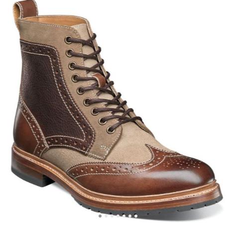 Brwon Multi Boots