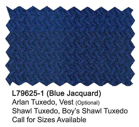 L79625-1-London Fog Boys Suit-Blue Jacquard