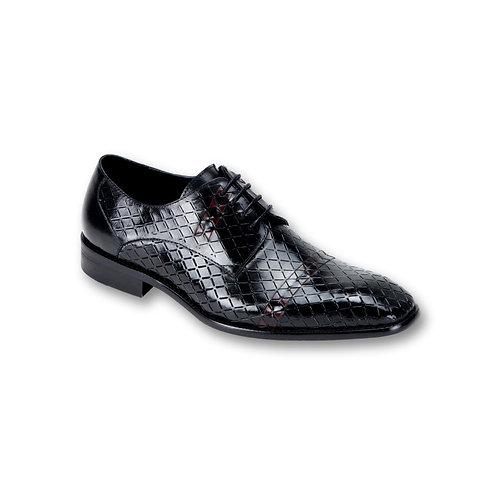 SL0013 | Black / Burgundy Genuine Leather Shoe