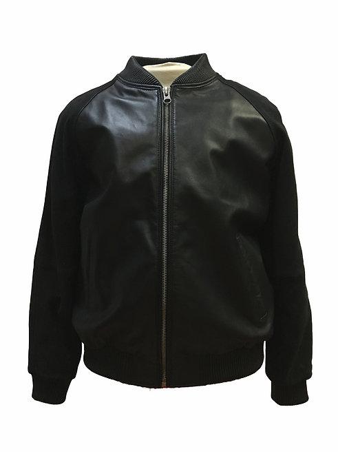 Black Jacket, Lamb Skin Jacket, Leather Jacket, Varsity Jacket